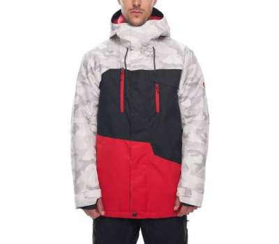 Сноубордическая куртка 686 Geo Insulated White Camo Colorblock