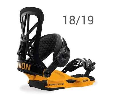 Крепления для сноуборда UNION Flite Pro Black Yellow