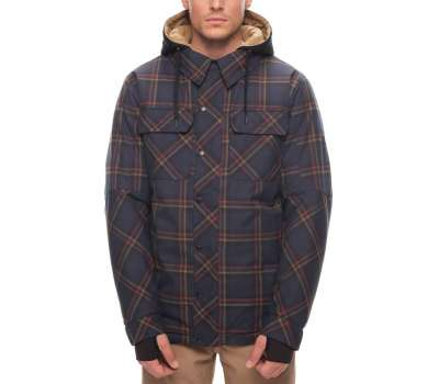 Куртка для сноуборда 686 Men's Woodland Insulated Dark Denim Plaid