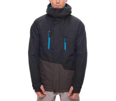 Куртка для сноуборда  686 Men's Geo Insulated Black Colorblock