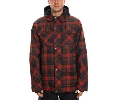 Куртка для сноуборда 686  Men's Woodland Insulated Rusty Red Plaid