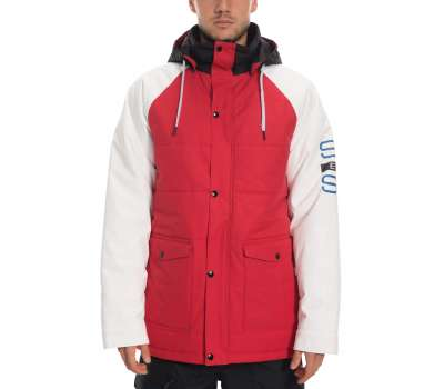 Сноубордическая куртка 686 Blend Insulated Jacket Red Colorblock