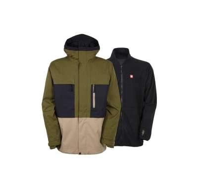 Куртка для сноуборда 686 Men's Authentic Smarty Form Olive Clrblk